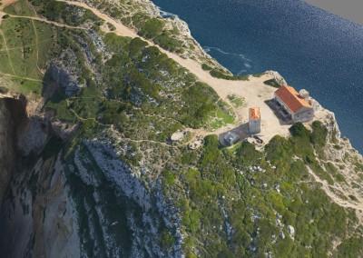 Pormenor do modelo 3D do Cabo Espichel