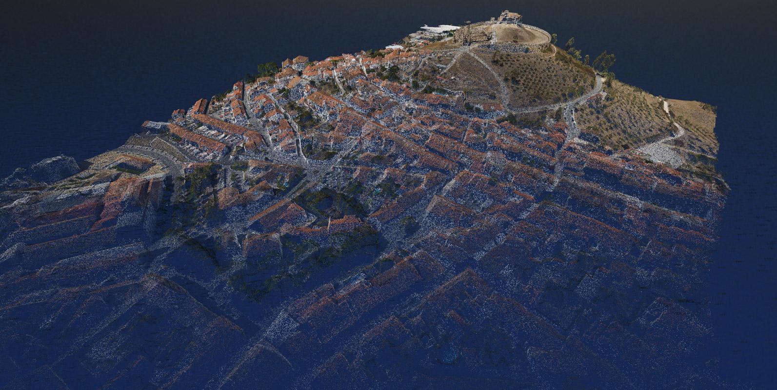 Nuvem de Pontos da Vila de Arraiolos - Modelação 3D