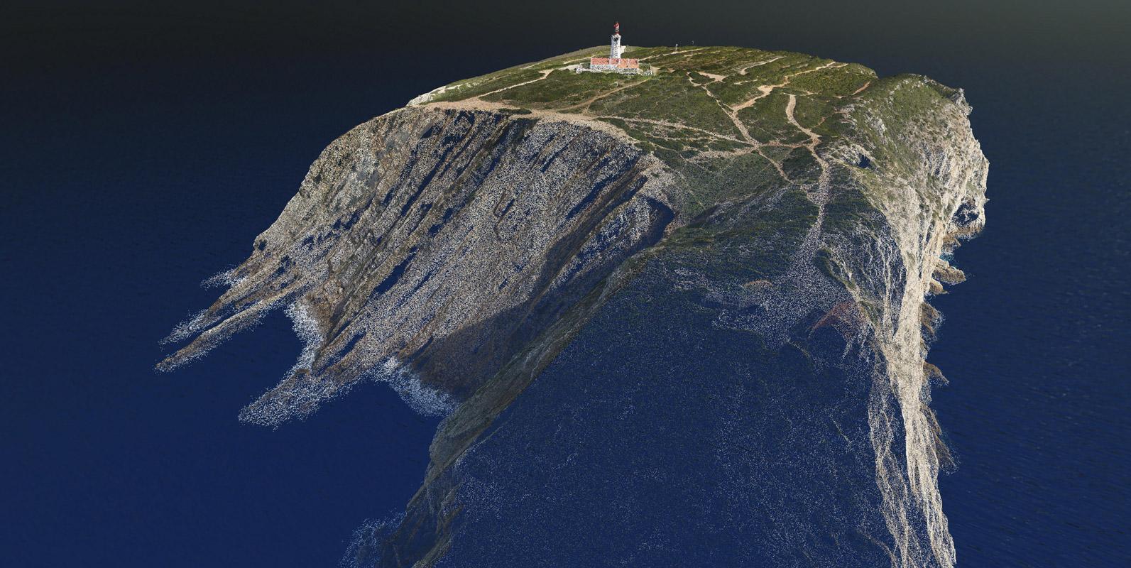 Nuvem de Pontos do Cabo Espichel - Modelação 3D