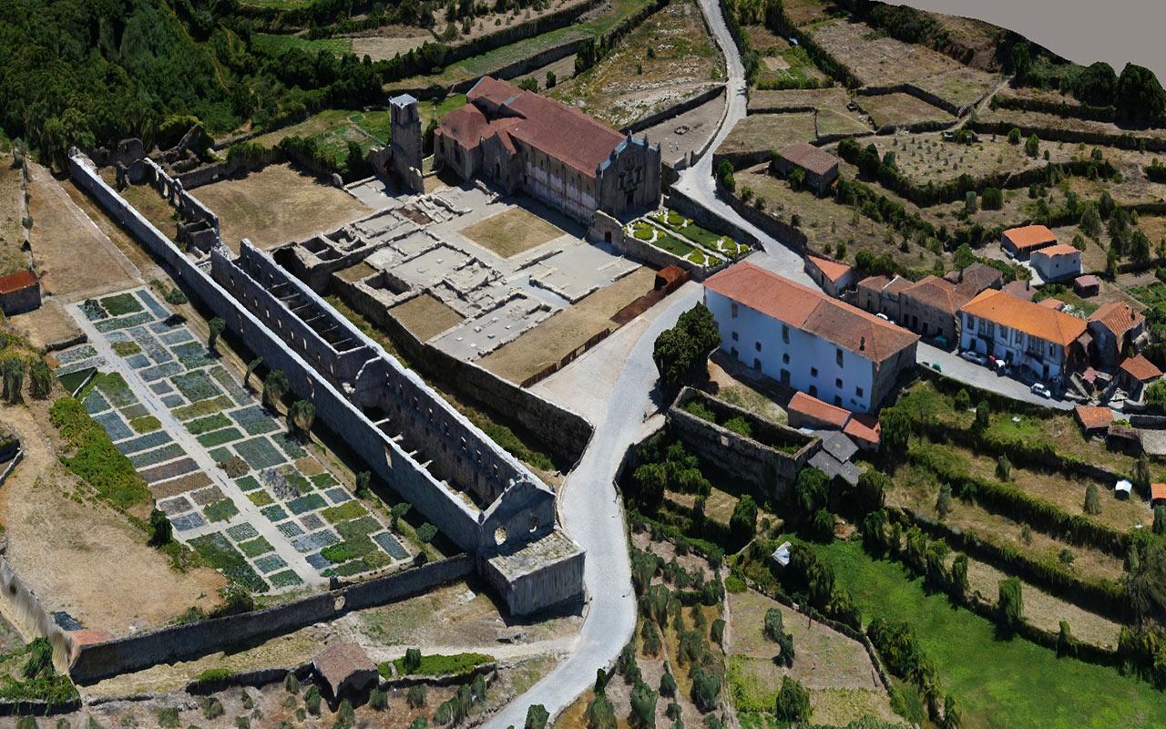 Modelo 3D do Mosteiro de São João de Tarouca