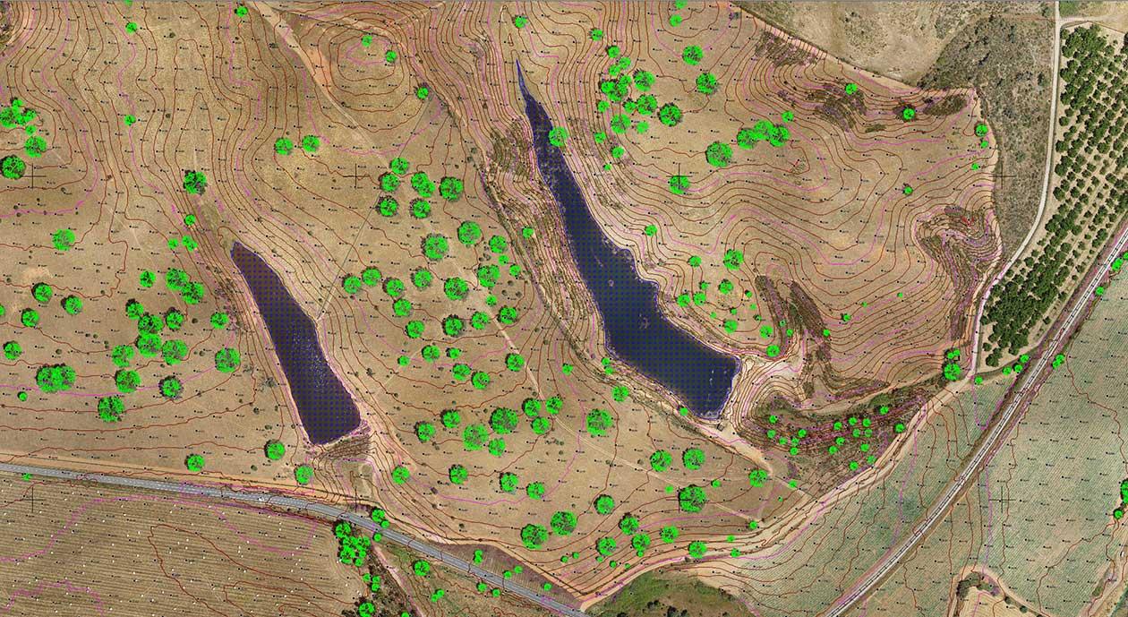 Topografia Herdade